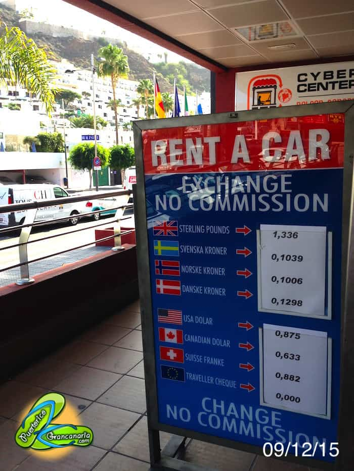 Gran Canaria Exchange Rate December 2015