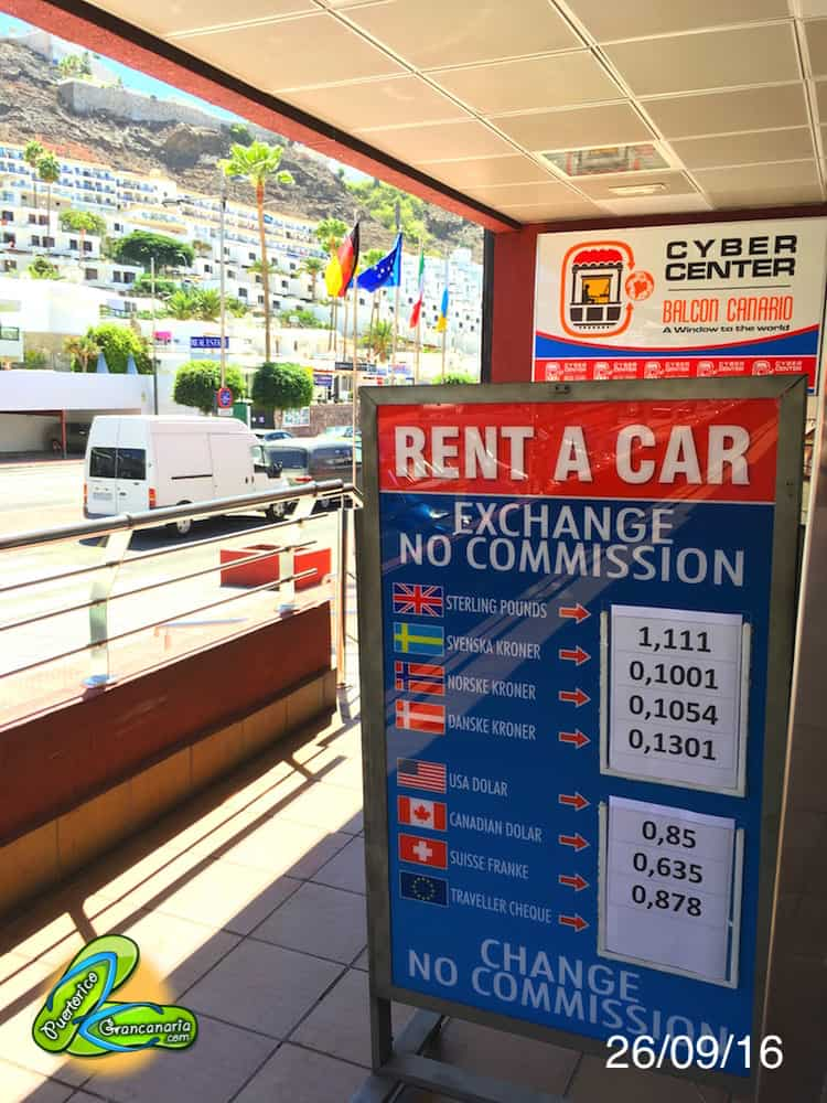 Gran Canaria Exchange Rate September 2016