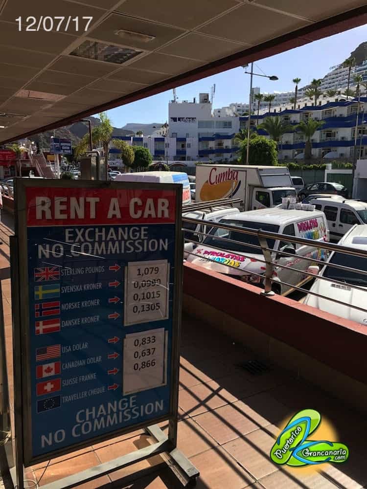 Gran Canaria Exchange Rate July 2017